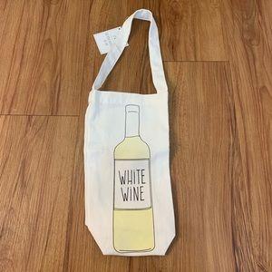White Wine Canvas Fabric Wine Tote